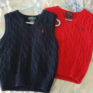 Boy winter vest, price is for both.